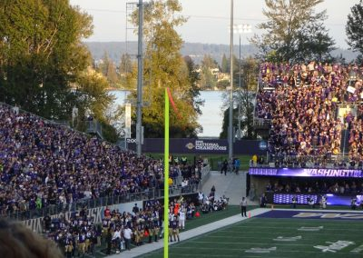 View of Lake Washington from Alaska Airlines Field at Husky Stadium