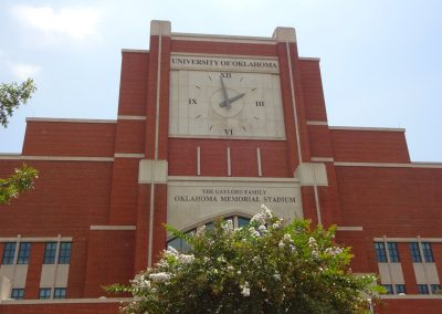 Gaylord Family - Oklahoma Memorial Stadium, Clock Tower behind North End Zone