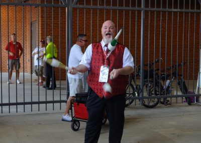 Gaylord Family - Oklahoma Memorial Stadium, Jugglers in the Concourse