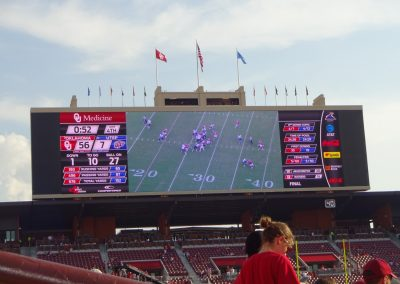 Gaylord Family - Oklahoma Memorial Stadium, South End Zone Videoboard