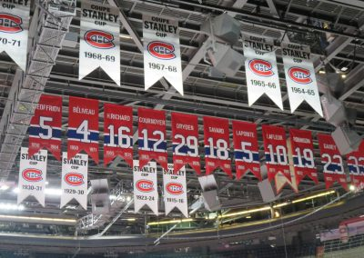Banners Hang at Bell Centre