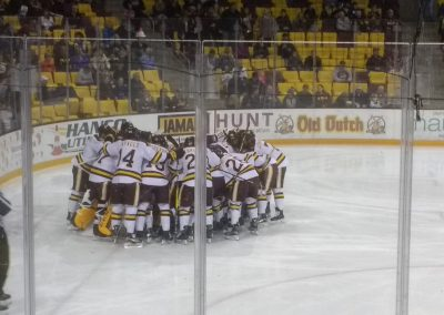 Bulldogs Huddle Up at AMSOIL Arena