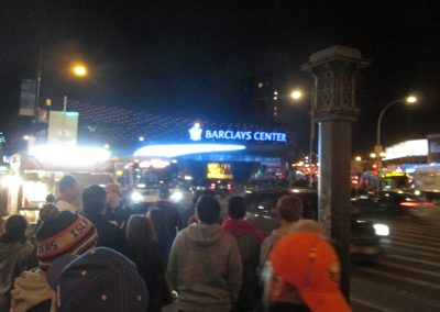 Approaching Barclays Center