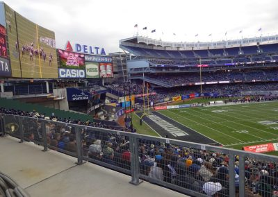 End Zone at Yankee Stadium during the Pinstripe Bowl