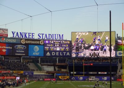 Video Board at Yankee Stadium during the Pinstripe Bowl