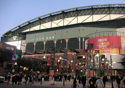 Exterior of Chase Field with Cheez-It Bowl Signage