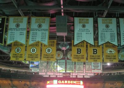 Banners at TD Garden