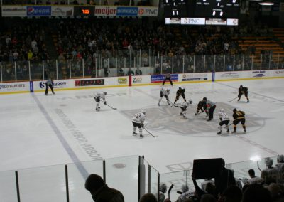 Faceoff at Lawson Ice Arena