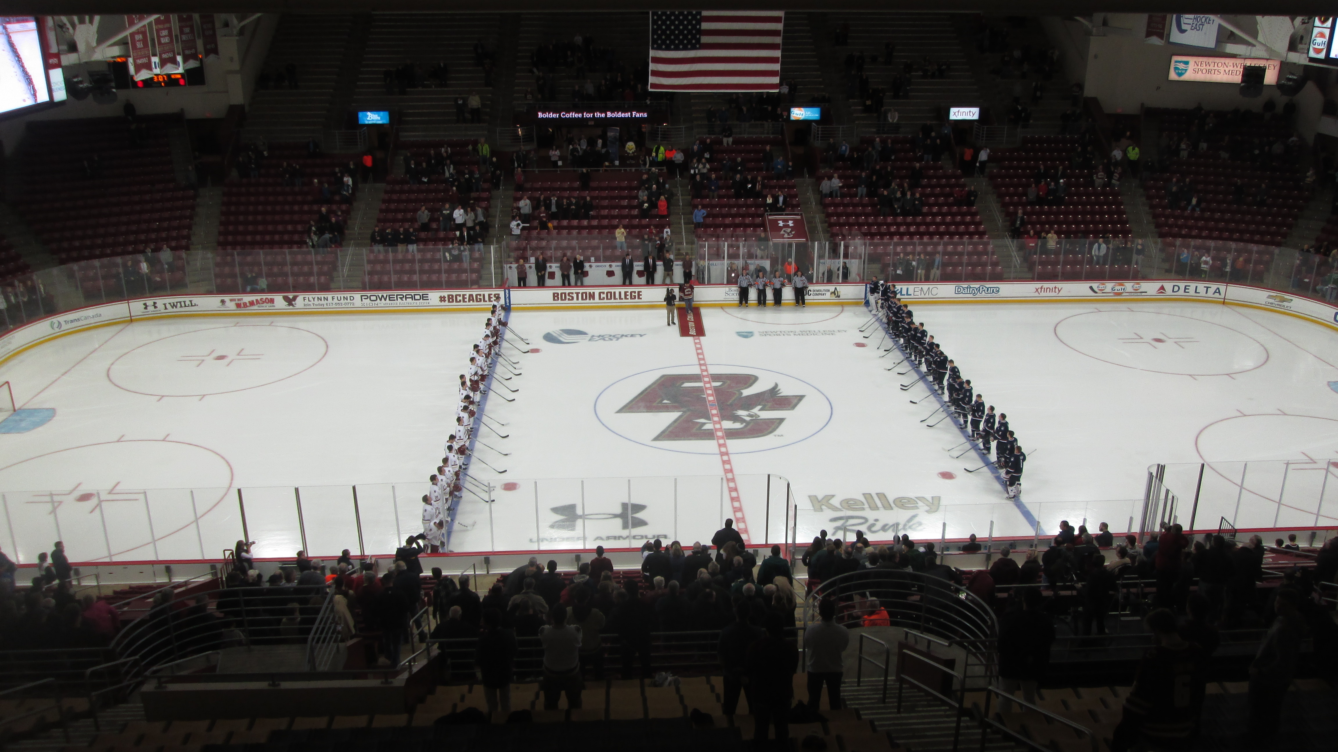 National Anthem at Conte Forum