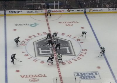Kings Faceoff at the Staples Center