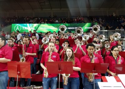 Mustang Band at Moody Coliseum
