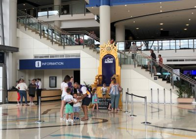 Qudos Bank Arena, Sydney Kings Throne in Lobby