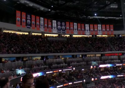 Championship Banners Hang at Rogers Place