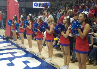 SMU Cheerleaders at Moody Coliseum