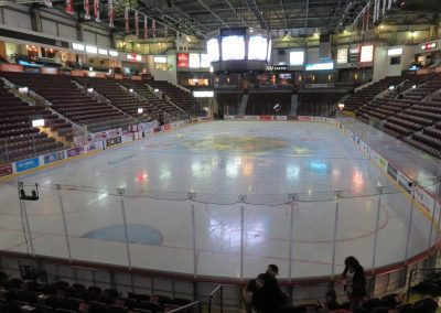 Empty Ice Sheet at WFCU Centre