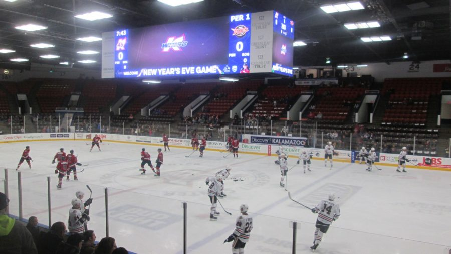 Warmups at Wings Event Center