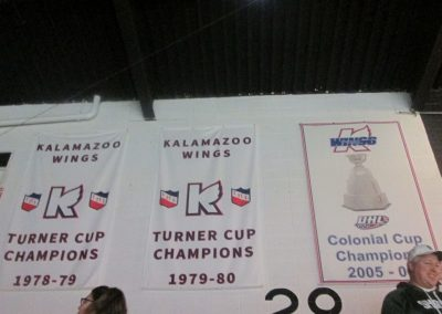 Championship Banners at Wings Event Center