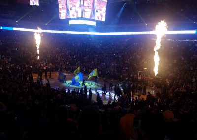 Oracle Arena, Golden State Warrior player introductions