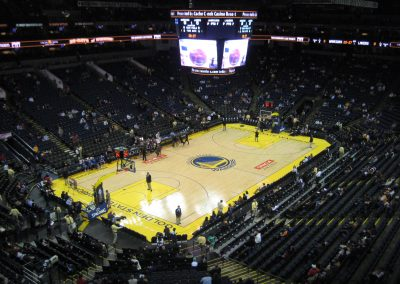 Oracle Arena, a view of the court