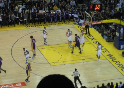Oracle Arena, the Golden State Warriors in action