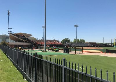 Allie P. Reynolds Stadium, View from Right Field Fence
