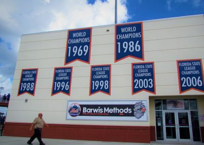 Championship banners at First Data Field