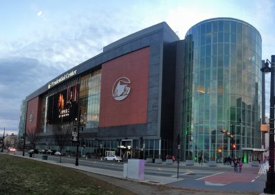 Approaching Prudential Center