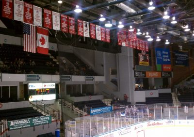Rochester Americans Banners at Blue Cross Arena at the War Memorial