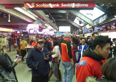 Crowded Concourse at Scotiabank Saddledome