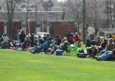 Fans at Quinnipiac Baseball Field