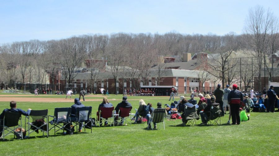 Behind the fans at Quinnipiac Baseball Field