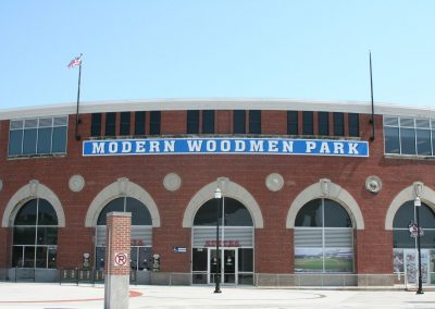 Entrance to Modern Woodmen Park, Home of the Quad Cities River Bandits