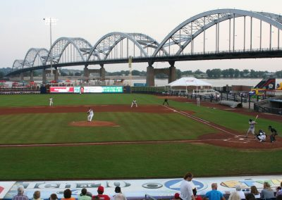 Centennial Bridge Beyond Modern Woodmen Park