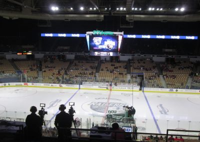 Getting Ready for the Game at DCU Center