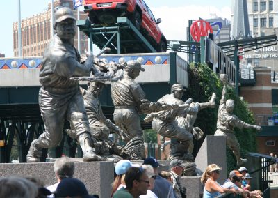 Comerica Park Outfield Statues