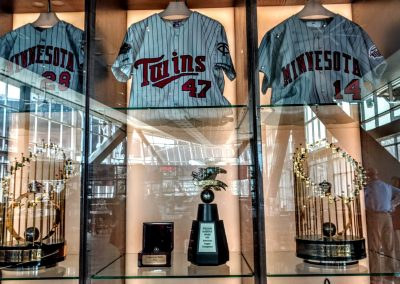 Target Field World Series Trophies