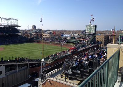 Rooftop View of Wrigley Field