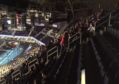 Barclays Center, a view from the upper level