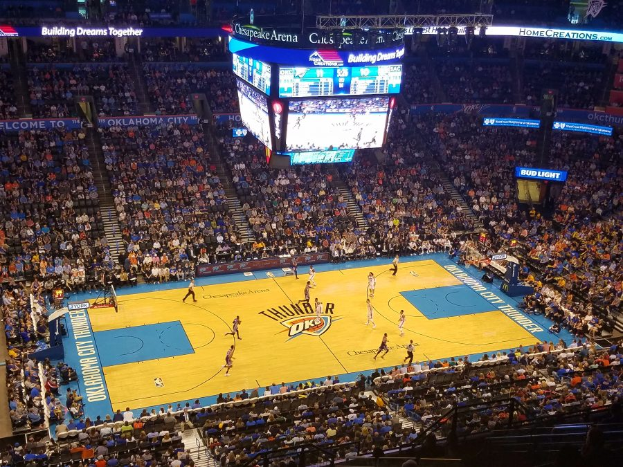 Chesapeake Energy Arena, a view from the upper concourse