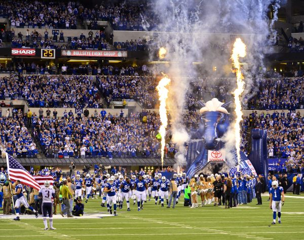 Colts Take the Field at Lucas Oil Stadium