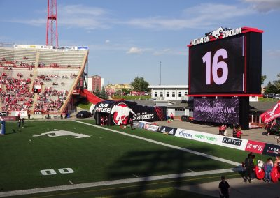 McMahon Stadium, a view of the end zone
