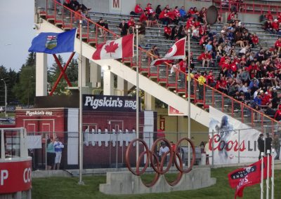 McMahon Stadium, the Olympic Rings