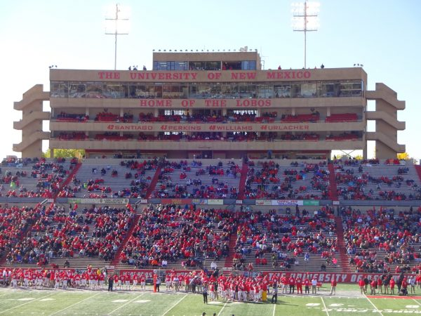 Fans Looking on at Dreamstyle Stadium during the New Mexico Bowl