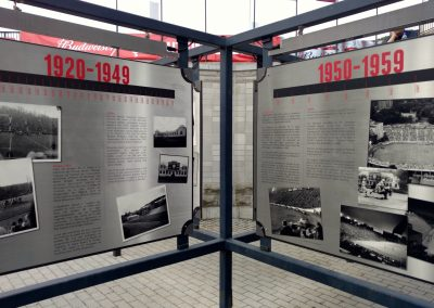 Percival Molson Memorial Stadium, Montreal Alouettes history display
