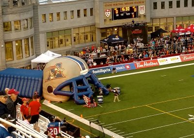 Percival Molson Memorial Stadium, giant inflatable Montreal Alouettes helmet