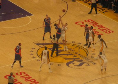 Staples Center, the L.A. Lakers in action
