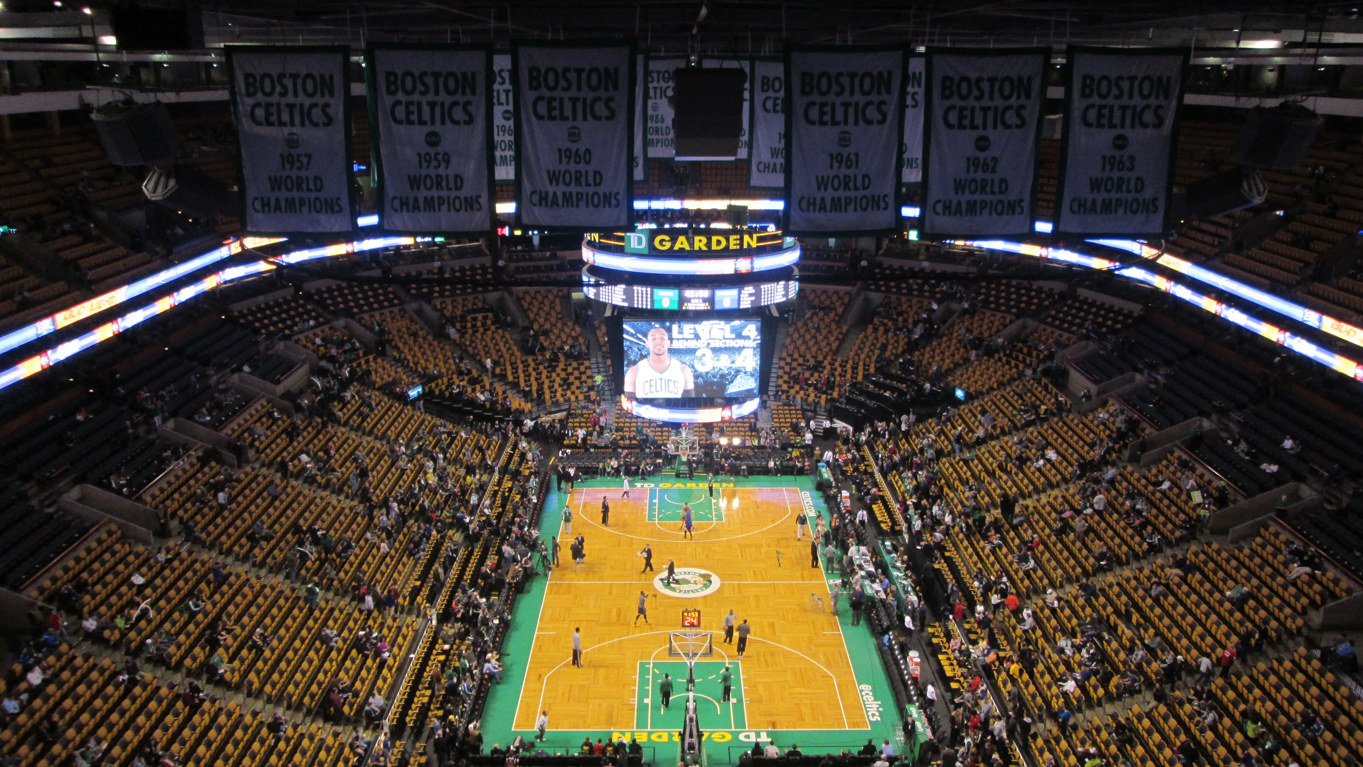 TD Garden, Interior View (from Behind The Net)