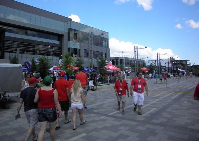 TD Place Stadium, fans entering the stadium
