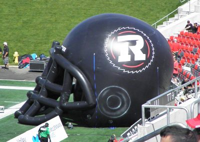 TD Place Stadium, giant inflatable Ottawa Redblacks helmet