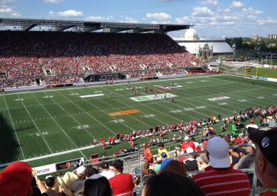 TD Place Stadium, interior